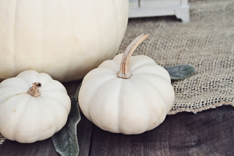How to Decorate Your Home With White Pumpkins